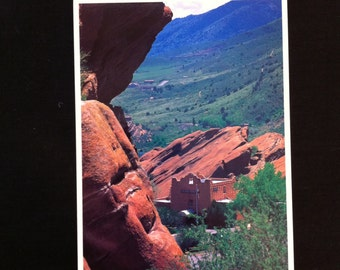 Red Rocks Park and Amphitheater, Trading Post Loop Hiking Trail, Postcard of Red Rocks Park