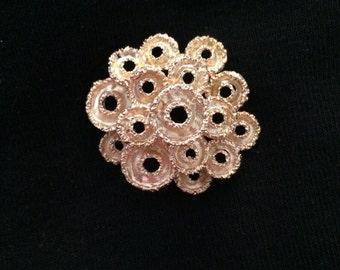 14K Tiered Circle Brooch / Pin