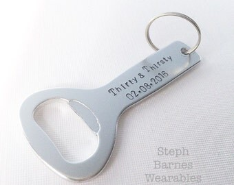 Thirsty & Thirty Bottle opener/keychain with date