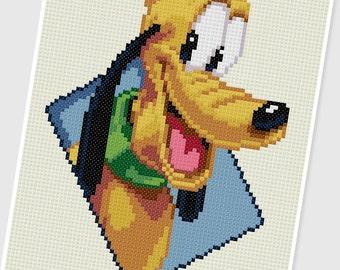 PDF Cross Stitch pattern - 0052.Pluto - INSTANT DOWNLOAD