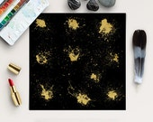 DARK LUXURY, Gold Splatter Clip Art, Golden Strokes, Paint Splotches, Splashes Clipart, Scrapbook Overlays, Instant Download, BUY5FOR8