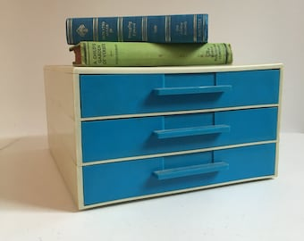 Mid Century Plastic File Desk Drawers