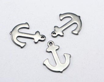 30pcs Anchor Charms, Stainless Steel, High Quality, Anti-Tarnish, Anti-Rust, Strong and Long Lasting! #SD-S8058