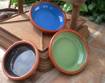 TAPAS PLATES  / Ramekins  / Pottery / RUSTIC coloured tapas dish / tapas bowl / set of 3