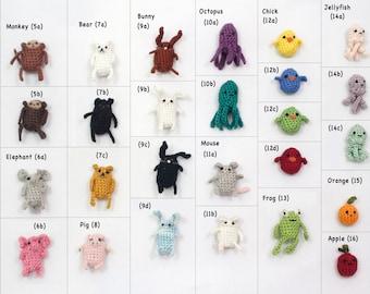 Choose Your Own Miniature, Crochet, Amigurumi Critter Keychain Accessory!