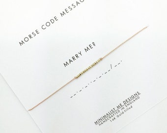 Morse code Marry Me bracelet - perfect proposal gift