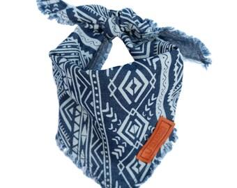Aztec Denim Dog bandana