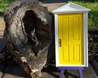 Yellow Celebration Glittery Tooth Fairy Door Loose Tooth Fairy Faerie Realm Fairy Dust