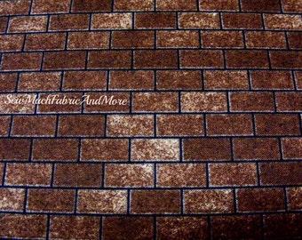 Architectural Danscapes Bricks Fabric~by the 1/2 yard~RJR~Dan Morris RJR~#1427~cotton