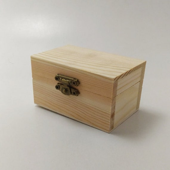 Unfinished Wood Treasure Chest ~ Unfinished wood treasure chest box for diy projects