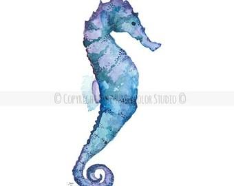 Indigo Seahorse