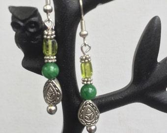 Jade and Peridot earrings