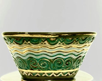 Celtic Bowl by René Quillivic, Quimper. Model created in 1922.