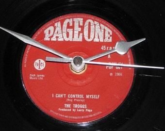 "The Troggs I can't control myself   7"" vinyl record clock"