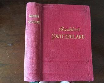 1903 Switzerland Baedeker Guidebook - Illustrated - Maps