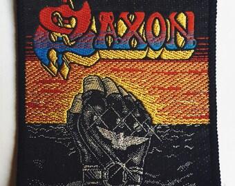 Saxon vintage patch
