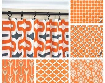 Orange Curtains.Window Curtains.Kitchen Curtains.Apache Orange Window  Treatment.Moroccan Curtains