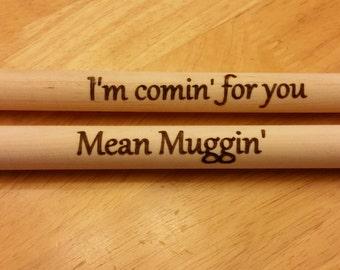 Personalized Drum Sticks Set, Custom drum sticks, drummer gift, laser burned drum sticks