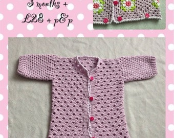 Crochet baby sleeping bag
