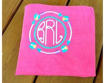 Summer Monogram/Beach Ball Monogrammed Shirt/Arrow Monogrammed Shirt
