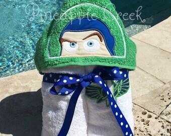 Buzz Lightyear Hooded Towel FREE MONOGRAM