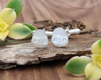Laputa Robot Sterling Silver Cufflinks    Handmade Gift   Anime Jewellery   Studio Ghibli Inspired   