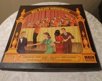 Big Band Memories 5 Album Set of Vinyl Record Big Band Recordings, 1973, Glenn Miller, Artie Shaw, Tommy Dorsey, Benny Goodman