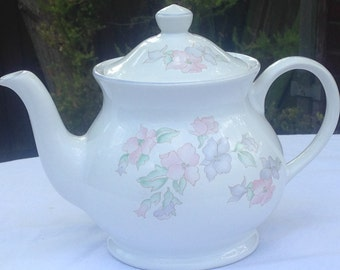 Sadler Romance Teapot with Pink and Lavender flowers