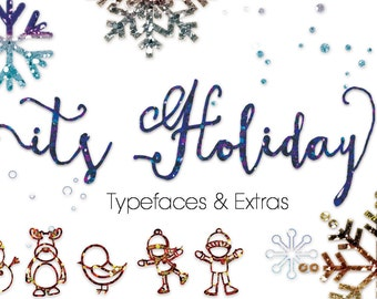 ItsHoliday Font, modern calligraphy font