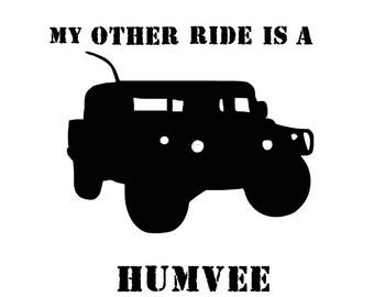 Humvee Vinyl Decal
