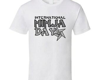International Ninja Day Fun Celebration T Shirt