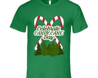 Celebrate Candy Cane Day Fun Food Celebration T Shirt