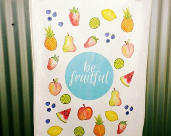 Be Fruitful - Fruity Linen Cotton Teatowel