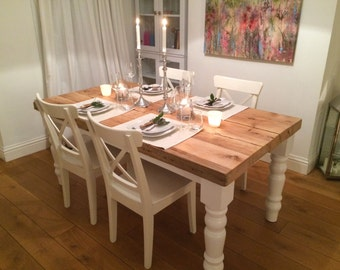 Dining Table -- Rustic Dining Table -- Chunky Dining Table -- Farmhouse table -- Reclaimed Wood