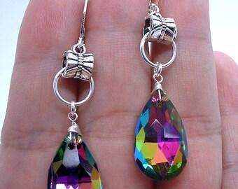 NovaDesign Lovely Briolette Mystic Quartz Sterling Silver Earrings !!