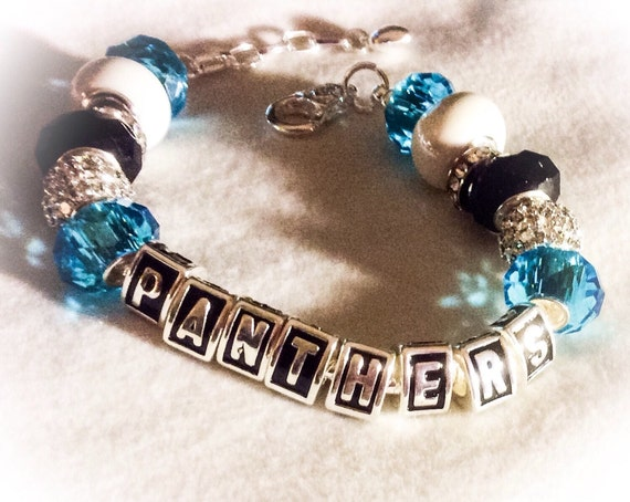 north carolina panthers panthers jewelry bracelets by swagtogo. Black Bedroom Furniture Sets. Home Design Ideas
