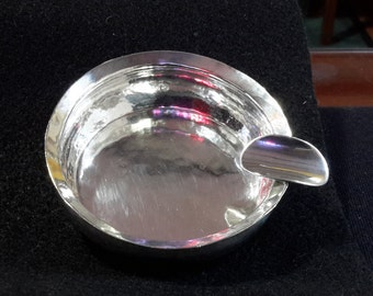 Sterling silver hand wrought ash tray by JULIE OLAF RANDAHI