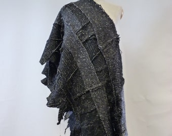 Handmade felted shawl. One-of-a-kind.