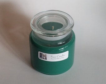 16oz Apothecary Christmas Hearth candle with flat lid