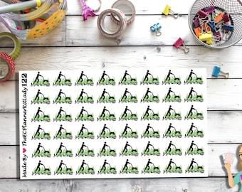 122 (48 - Mow the grass Sticker Set) - Mow, Grass, Cut Grass, Planner Stickers