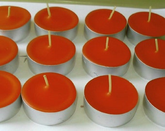 New England Autumn Scented 12 Pack of Soy Tealight Candles