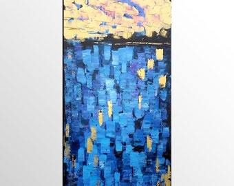 Abstract Painting, Canvas Art, Abstract Wall Art, Large Art, Wall Art, Abstract Art, Original Art, Abstract Art, Canvas Painting, Blue Art