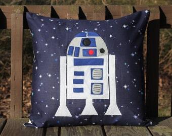 R2D2 Appliqued Pillow Cover