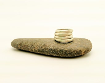 4 sterling silver stacking rings