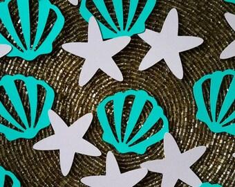 Seashell Confetti, Starfish Confetti, Beach Confetti, Beach Party, Seashells, Starfish, Beach Decor, Seashell Decor, Beach Decorations, Sea