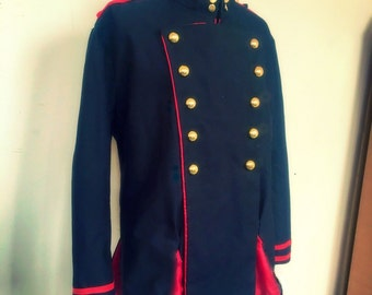 Mens military jacket costume, anime seraph of the end cosplay made to order, fancy dress up role play, con party