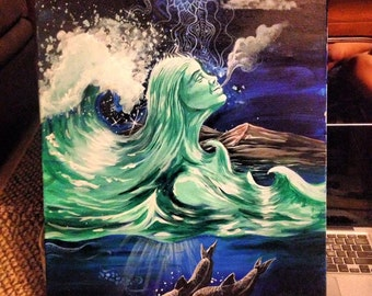 Sea Goddess Painting