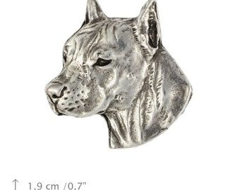 American Staffordshire Terrier (cropped), dog pin, limited edition, ArtDog