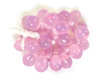 50 Pink opaline 3 x 5mm drops. Set of 50.