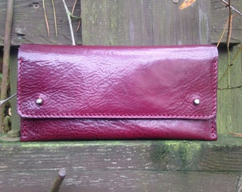 Leather Clutch - Burgundy - Clutch Bag, Womens Wallet, Leather Purse, Leather Pouch, Gift For Her